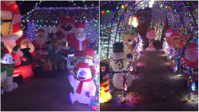 Weihnachtsbeleuchtung Zum Stecken.Beeindruckende Weihnachtsbeleuchtung In Texas