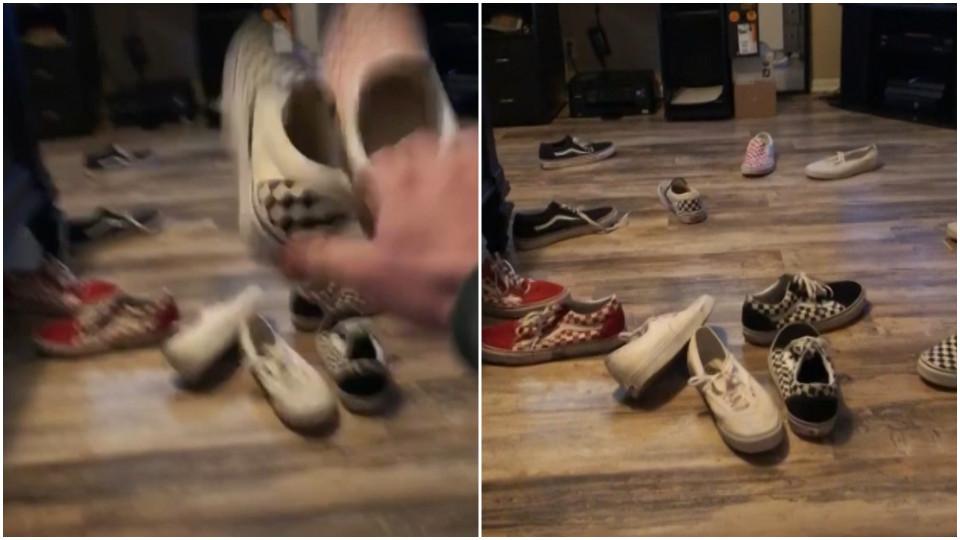 vans schoenen gooien